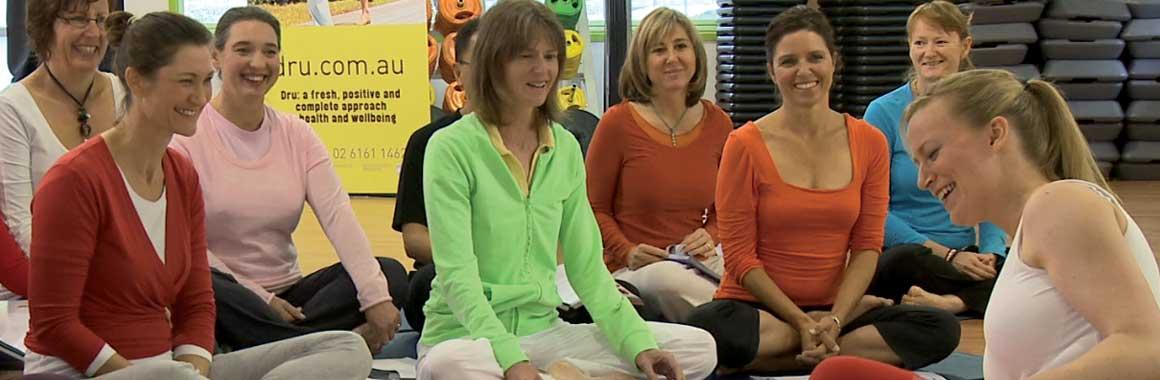 Coby Langford teaching Dru Yoga class