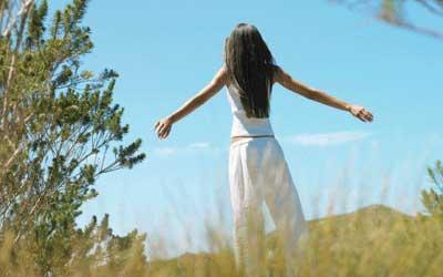 Rise and shine - enjoying Dru Meditation outside