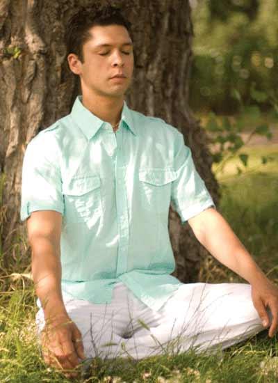 Arjuna meditating in nature
