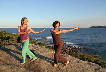 Suzanna Thell and Janet Scharbow, Dru Yoga teacher trainers